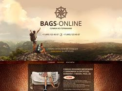 Landing Page. BAGS-online