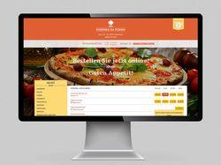 Сайт пиццерии для заказа еды онлайн.