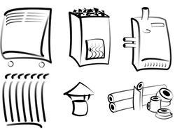 Иконки категорий для магазина отопительной техники