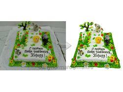 Обтравка + коррекция  торт