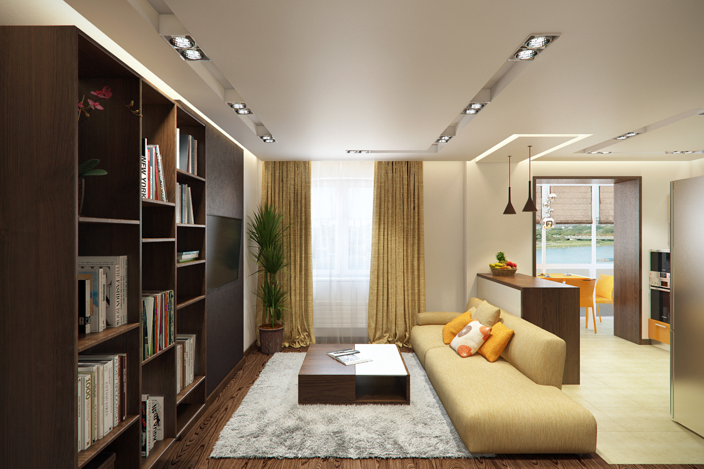 Однокомнатная квартира дизайн фото 34 кв.м