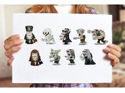 Иллюстрации персонажей к игре