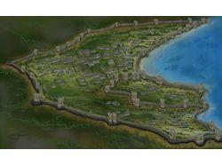 Схема крепости Кафа в 14 веке, востановленная