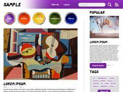 Дизайн арт-блога