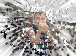 Эффект разбитой фотографии