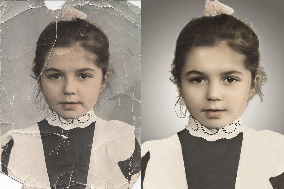 реставрация фото в гимпе стилевое