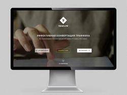 Сайт с фоновым видео. Компании продающей траффик