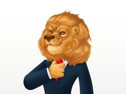 Персонаж лев