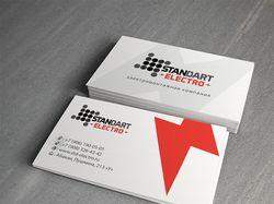Дизайн визиток для электромонтажной компании