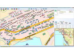 Электронная карта одного из городов РФ