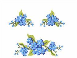 5 комплектов цветочных узоров в векторе