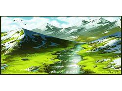 Ручей в горах.