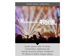 HTML-письмо Austin