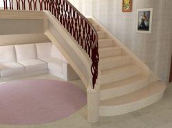 Лестница в интерьере. Мрамор