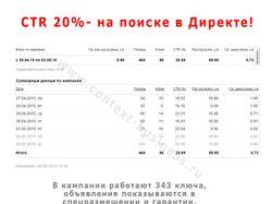 CTR 20% - на поиске в Директе!