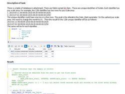 Пример кода MySQL