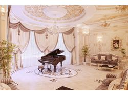 Гостиная в стиле рококо, вариант-1 (вид 1)