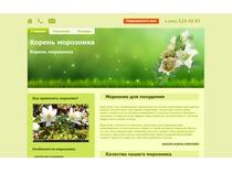 Дизайн главной страницы сайта по продаже морозника