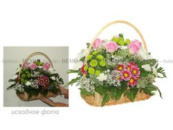Обработка фото (для цветочного интернет магазина)