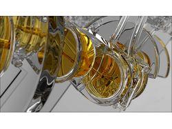 Двигатель, стекло, стилизация