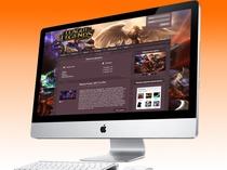 Макет сайта Лиги Легенд