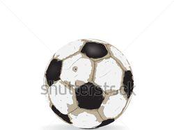 Старый футбольный мяч
