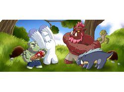 """Иллюстрация для игры """"Monster Home"""""""