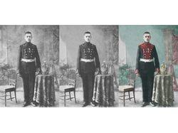 Реставрация и оцветнение старой фотографии