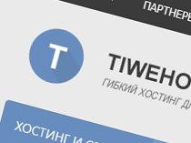 Верстка макета TIWEHOST.RU