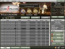StarOnePK Poker Lobby
