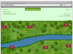 Дизайн сайта по аренде загородных домов.