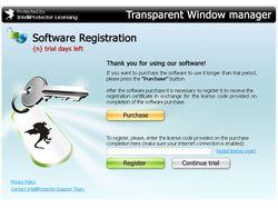 Intelliprotector.com, скин регистрации программы