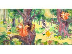 Иллюстрация к сказке про зайца