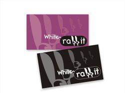 """Визитки для """"White rabbit"""""""