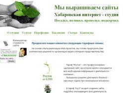 Сайт Хабаровской интернет - студии