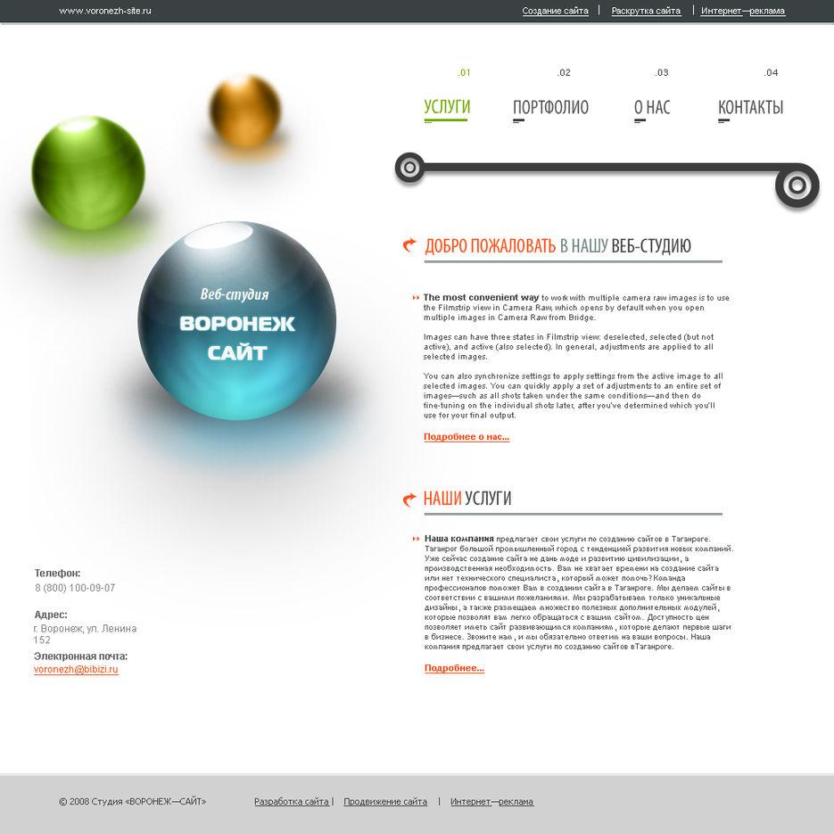 Студия создания сайтов воронеж программа для создания фото для сайта