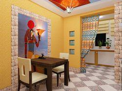 Кухня в египетском стиле. Vray, 2008