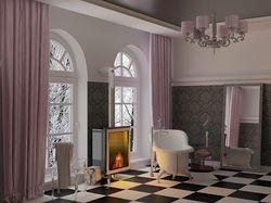 Ванная комната в классике. ROCA. Vray, 2008