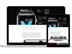 Дизайн сайта на предзаказ смарт-часов Apple Watch
