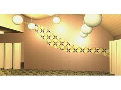 Проект зала для занятия йогой