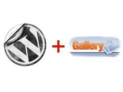 Настройка WordPress + интеграция с gallary2