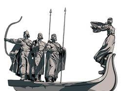 репродукция, отрисовка памятника