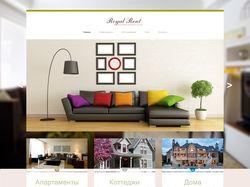 Дизайн Сайта по аренде жилья