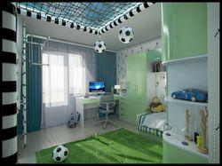 Дизайн детской для юного футболиста