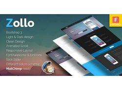 Дизайн+ код шаблона для Themeforest (Zollo)