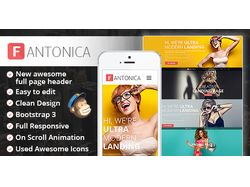 Дизайн + код шаблона для Themeforest (Fantonica)