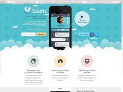 """Адаптивный Lending page для приложения """"South"""""""