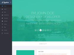 Персональная страницы web разработчика