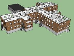 3D чертеж социального обекта