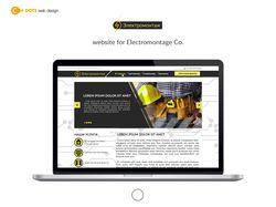 Дизайн сайта для компании Электромонтаж